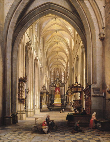 Interior-of-a-Church-1840-xx-Jules-Victor-Genisson