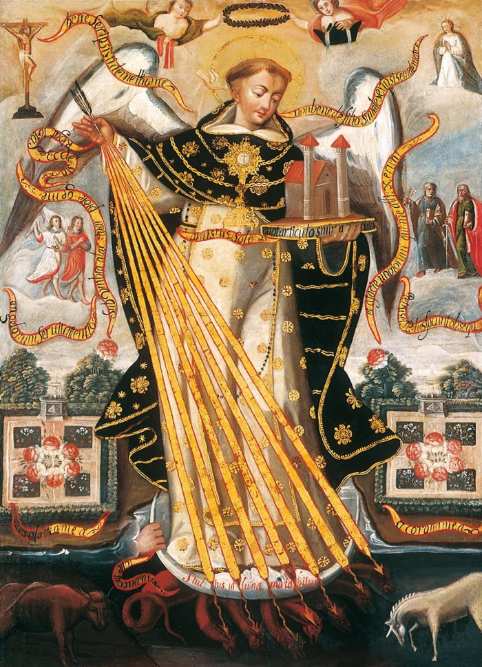 thomas anonymous_cusco_school_-_saint_thomas_aquinas_protector_of_the_university_of_cusco_-_google_art_project
