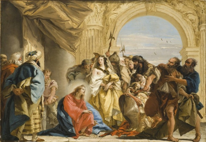 giovanni-domenico-tiepolo-christ-and-the-woman-taken-in-adultery-1752