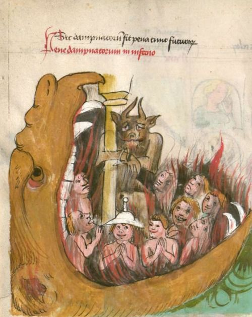 church in the demons mouth-th-century-miniature-paintings